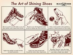 The Art of Shining Shoes: An Illustrated Guide