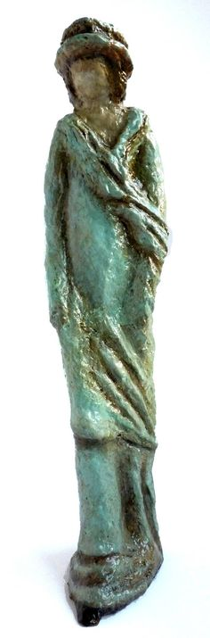 The Turquoise Lady. sculpture gift paper mache Paper Mache
