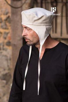 Mittelalter & LARP Kopfbedeckung Haube Wollhaube Wollmütze