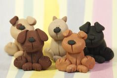 clay dog  | CLEARANCE Miniature Clay Dog Sculptures by ClayCrittersByLiza
