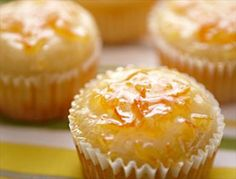 Orange-Yogurt Muffins with Marmalade Glaze