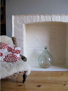 fireplace twinkle lights :)