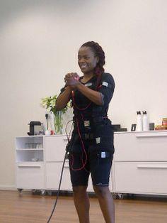Nkhensani Nkosi designer from Stoned Cherrie training at #BODYTEC Atholl