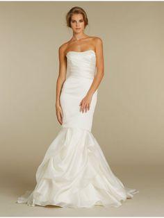 Trumpet / Mermaid Strapless Court Train Wedding Dresses Bridal Gowns 2302053