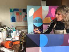 Full concentration... #mariongrieseart #studioday #canadianabstractart Fitbit, Abstract Art, Studio, Day, Studios