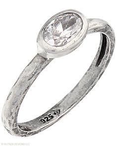 Playful. Stackable. Adorable. Wear one on each finger or stack together for an artsy look. Cubic Zirconia, Sterling Silver.