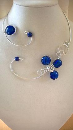 Royal blue jewelry  Royal blue necklace   by LesBijouxLibellule