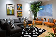 Magnolia Court - contemporary - family room - orange county - Michelle Harrison Design