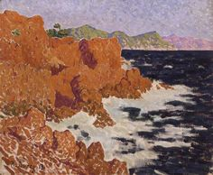 "Rene Durey (French, 1890-1959), ""The Esterel Mountains, Le Trayas (L'Esterel, Le Trayas),"" 1913; Indianapolis Museum of Art, The Holliday Collection, 79.244"