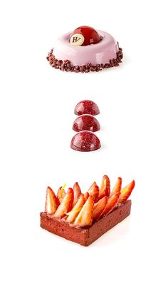 Déclinaison Fraise - Hugo & Victor Baking And Pastry, Pastry Chef, Childrens Meals, French Patisserie, Chocolate Pastry, Pastel, French Pastries, Cake Shop, Molecular Gastronomy