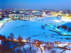 Winter in Minsk, Belarus