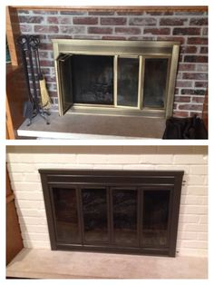 How to Spray Paint a Brass Fireplace | Spray painting, Sprays and ...