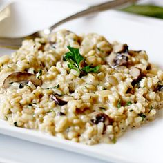 Mushroom Risotto (To make with the Garlic Parmesan Chicken)
