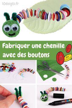 Fabriquer une chenille avec des boutons, une activité pour enfants facile et amusante !