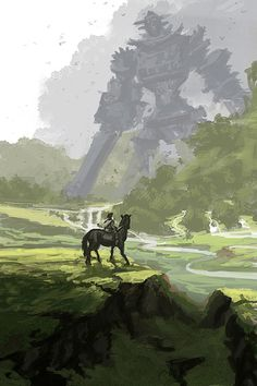 Shadow of the Colossus painting. That's Gaius, in case you were wondering.