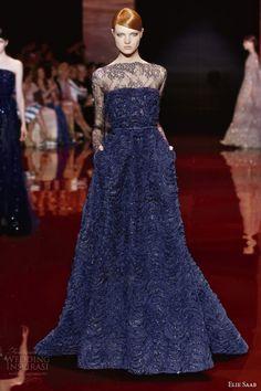 ELIE SAAB Haute Couture Autumn-Winter 2013-14 - dark blue gown
