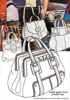 Handbag / Purse design illustration sketch drawing - Mood boards by Emily O'Rourke at Coroflot.com