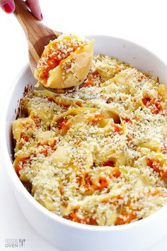 Roasted Vegetable Stuffed Shells from Two Peas and Their Pod