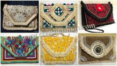 Crafts Of Gujarat is a Crafts Store in Ahmedabad offering Indian Handmade Handicraft Products, Vintage kantha Collection, intage Tribal Indian Costume jewelry. Kutch Work, Fringe Fashion, Hand Work Embroidery, Designer Clutch, Boho Bags, Purse Styles, Clutch Purse, Handmade Crafts, Travel Bag