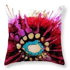 Variation On Pink Shadow Throw Pillow
