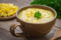 Enjoy our version of this restaurant favorite. This skinny corn chowder will be your new favorite soup!