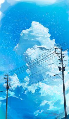 Anime Backgrounds Wallpapers, Anime Scenery Wallpaper, Animes Wallpapers, Cute Wallpapers, Fantasy Landscape, Landscape Art, Sky Aesthetic, Aesthetic Anime, Aesthetic Backgrounds