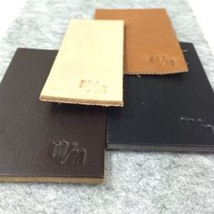 Loving our @mademeasure #leather samples. Our favourite is the #natural. Can't wait to see them our exciting new project! #interior #design #wearehuntly  http://www.wearehuntly.com.au