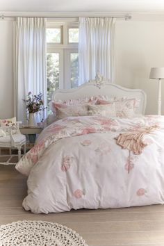 Ariadne Dekbedovertrek Jardin Des Roses :: Katoen :: Dekbedovertrekken ::  Slaapkamer :: BadPastelsShabby ...