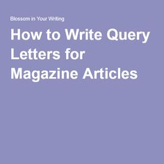 Free query letter template i show you what a finished query letter free query letter template i show you what a finished query letter looks like freelance writing pinterest letter templates and free spiritdancerdesigns Choice Image