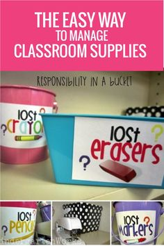 The EASY way to organize classroom supplies - this is so brilliant I can't believe I haven't always done this!