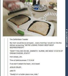 The Defibrillator Toaster. Me wants