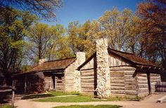 Lincoln's New Salem State Historic Site, about 2 miles South of Petersburg and about 20 miles Northwest of Springfield, is a reconstruction of the village where Abraham Lincoln spent his early adulthood.