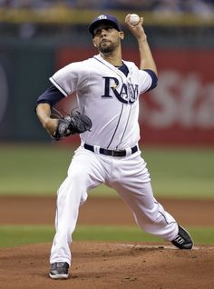 Tampa Bay Rays starting pitcher David Price delivers to New York Yankees' Ichiro Suzuki, of Japan, during the first inning of a baseball game on Saturday, Aug. 24, 2013, in St. Petersburg, Fla. (AP Photo/Chris O'Meara)