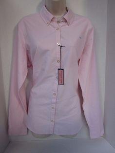 NWT Vineyard Vines Flamingo Light Pink Oxford Button Down Shirt Size 16 Cotton #vineyardvines #ButtonDownShirt