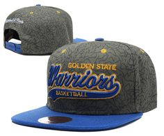 NBA Golden State Warriors Grey Snapback Hats--sd