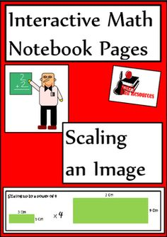 Newly released interactive math notebook lesson on how to scale an image up or scale an image down. Includes a reference page, five reflection options and an art project.