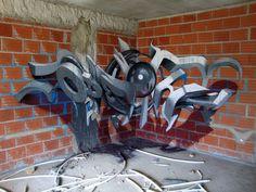 Graffiti by Odeith - Street Art - Street Mural, 3d Street Art, Street Art Graffiti, Street Artists, Wall Street, Graffiti Wall Art, Graffiti Lettering, Mural Art, Wall Murals
