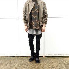 Modern Soldier || Follow @filetlondon for more street wear style #filetclothing