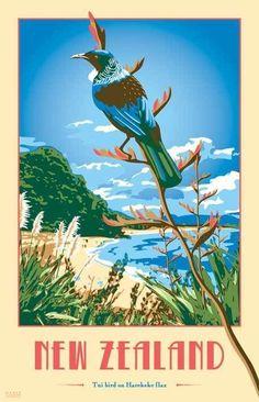 NZ Art Deco Tea Towels by Marie Ockleford, via Behance