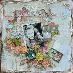 Prima scrapbook layout