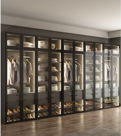 dress Room house - LED Lighting Dress Closet, Armoire with Glass Door / Bespoke Fitted Dressing Room Wardrobe Room, Wardrobe Design Bedroom, Luxury Bedroom Design, Interior Design, Walk In Closet Design, Closet Designs, Home Room Design, Dream Home Design, Cheap Wardrobes
