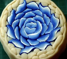 blue rose by Roni Gur