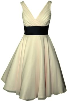 50's style chiffon dress with sleeves/straps