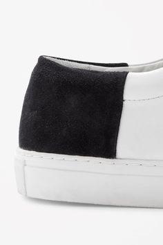Suede panel sneakers