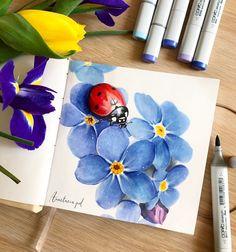 В сером городе #санктпетербург так ещё не хватает весны, зелени, цветочков . Я очень жду... Ведь я привыкла, что в это время уже все вовсю цветёт и пахнёт Ну а пока буду радовать вас и себя цветочками на бумаге) . Кстате, первый раз рисовала в скетчбуке @just_do_sketch! И Это любовь такой мягкий и нежный, что хочется трогать его целый день☺️ . Всем чудесного дня и цветущего настроения . #Скетчинг #иллюстрация #скетч #copicmarkers #copic #sketching #рисуйкаждыйдень #абинск ...