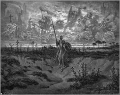 """Don Quixote"" by Gustave Dore (c.1868) via Wikipaintings."