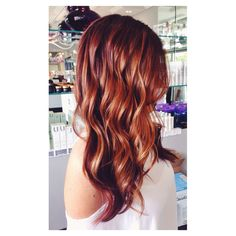 Red Violet Base With Balayage Painted On Highlights And