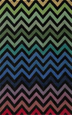 Chevron Stripe Multi Colored Delhi DL-41 Black Momeni Rug - Momeni Rugs | Rugs by SelectRugs.com  Colors for kitchen? Maybe too dark...