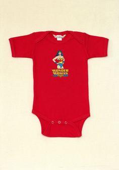 Red Wonder Woman Baby Onesie Size 6-12 Months