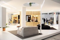 designed together with project manager oke hauser, osamu nishida from ON design and jan wurm at arup, the installation centres on a 30 square meter apartment that forms part of a micro-neighborhood of similar apartments.